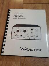 Wavetek 185 Sweep Generator Instruction Manual