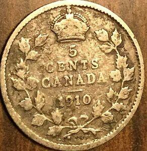 1910-CANADA-SILVER-5-CENTS-COIN