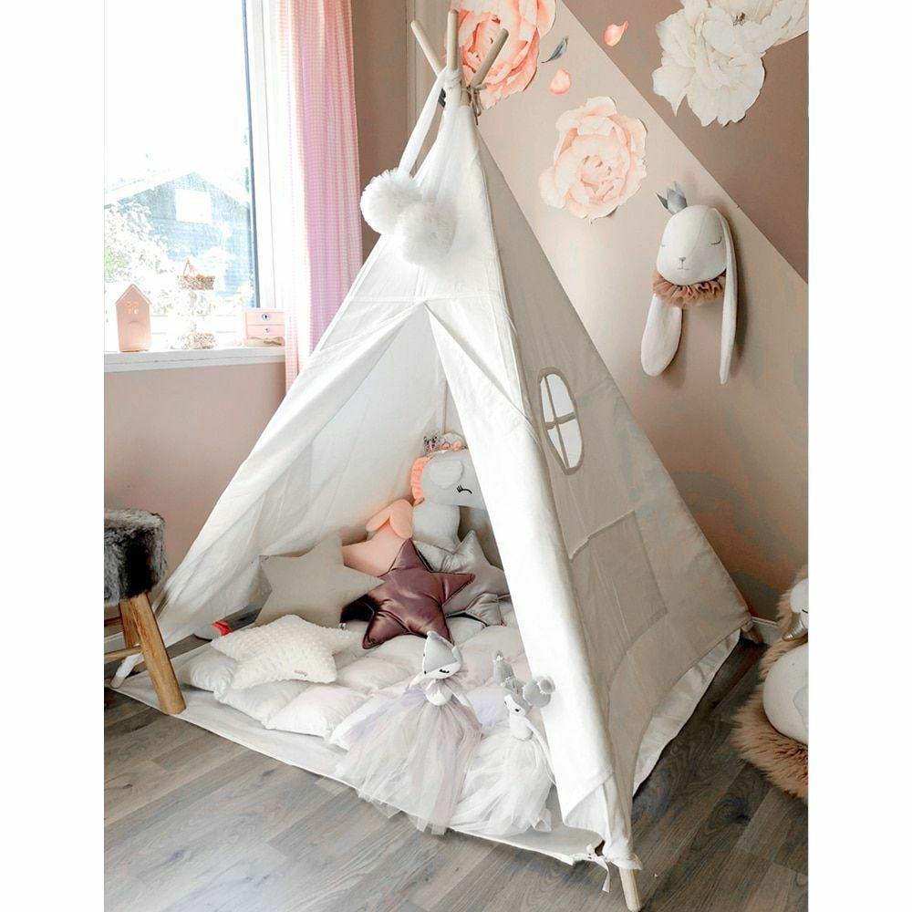 Kids Teepee Play Play Play Tent 100% Cotton Canvas Tipi Playhouse Indoor Room Toys For Kid a7d4f2