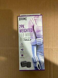 EDX 1lb Wrist Weights Women /& Men Adjustable Ankle Cuffs Strength Training Gray