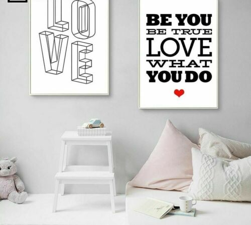 Modern Art Canvas Posters Home Living Room Wall Decors Motivational Quotes Paint