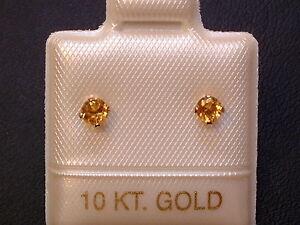 Feinste-Citrin-Ohrstecker-Ohrringe-3-mm-10-Kt-Gold-417-Brillantschliff
