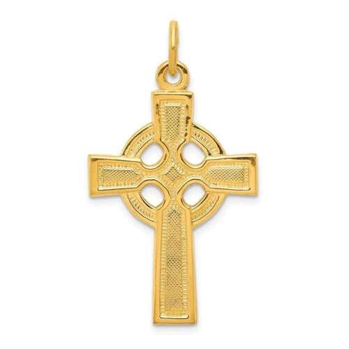 Plaqué or Argent Sterling Croix Celtique Pendentif