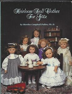 """18&19&21""""HEIRLOOM+SMOCK DOLL CLOTHES/GOTZ&AMERICAN GIRL PULLEN PATTERN BOOK"""