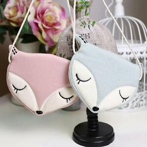Baby Girls Kids Fox Cute Storage Bag Crossbody Shoulder Bag Snack bag Backpacks