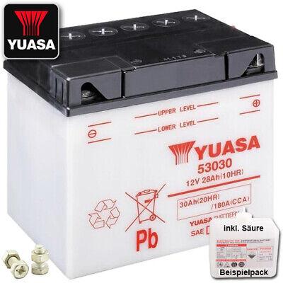 Starterbatterie YUASA Batterie BMW R 100 R Mystic mit Säure inkl Pfand