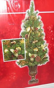 Home Accents Holiday 4 ft Pre-Lit Golden Tidings Porch Tree