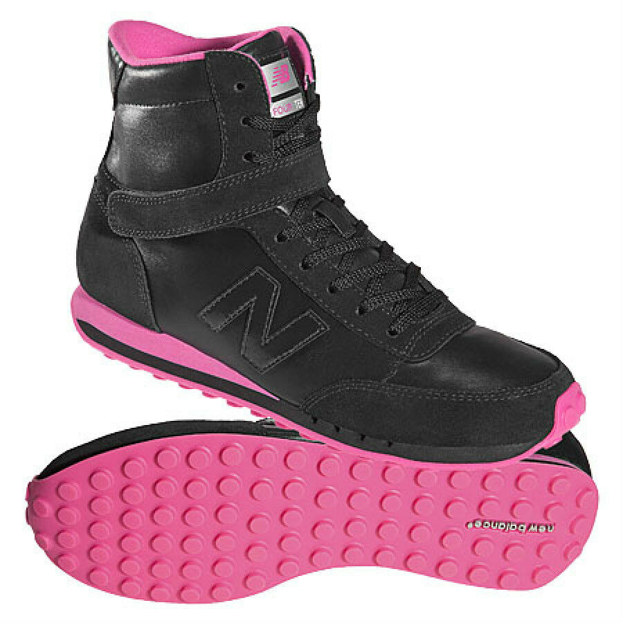 New Balance WL410MBP Black/Pink Hi-Top Shoes 7