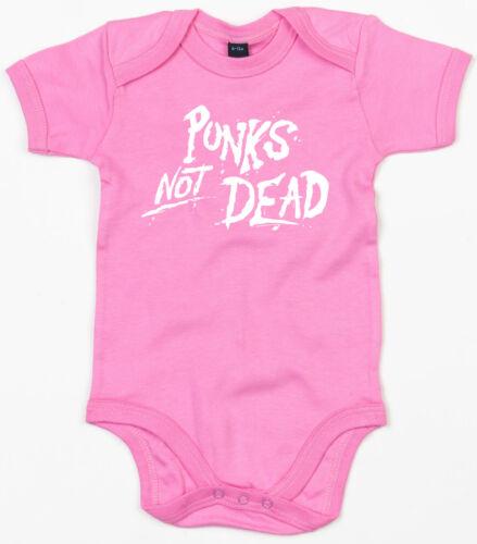 PUNKS NOT DEAD Baby-Body pink