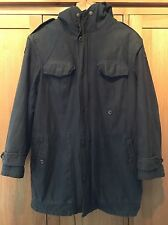 Mens German Vintage Army Parka Coat Jacket Hooded Size Large Altreichenaur