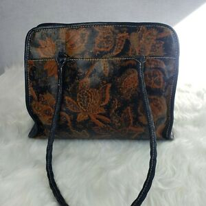 Patricia-Nash-Poppy-Tote-Autumn-Leaves-Leather-Shoulder-Bag-Brown-Blue-Suede