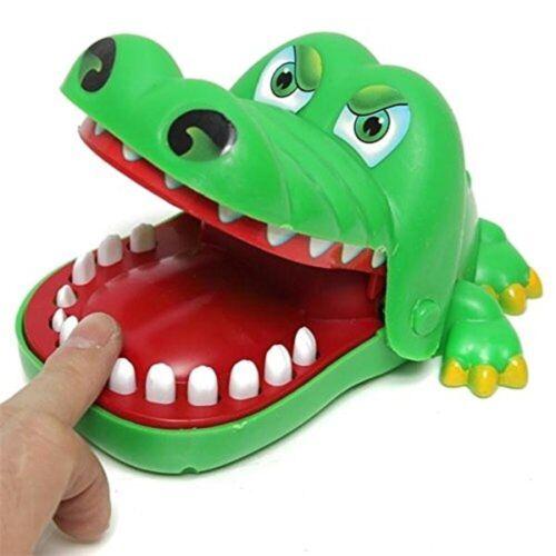 Krokodil Mund Zahnarzt Biss Finger Spiel lustiges Familien Spielzeug