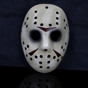 Deluxe Halloween Masks   Resin Hockey Deluxe Halloween Mask Fancy Dress Jason Slasher Serial