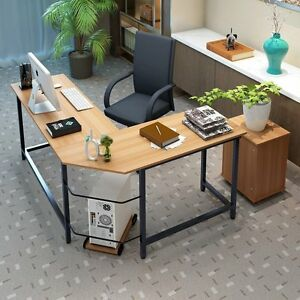 Astonishing New L Shaped Corner Computer Desk Pc Laptop Study Table Largest Home Design Picture Inspirations Pitcheantrous
