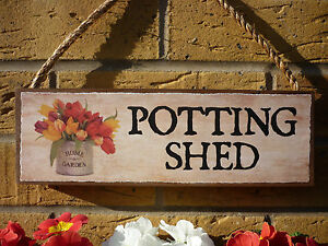 Delicieux Image Is Loading PERSONALISED GARDEN SIGN POTTING SHED SIGN CUT FLOWERS