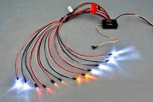 RC-Car-truck-1-10-LED-lighting-Kit-BRAKE-HEADLIGHT-SIGNAL-Fit-2-4ghz-PPM-FM