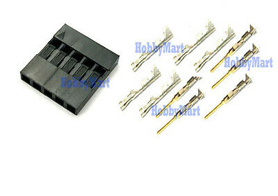100 x Dupont 5 Pin Connector with 250 pcs female crimps & 250 pcs male crimps