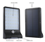 Bright 36 LED Black Outdoor Motion Sensor Solar Street Lights Garden Wall Lights
