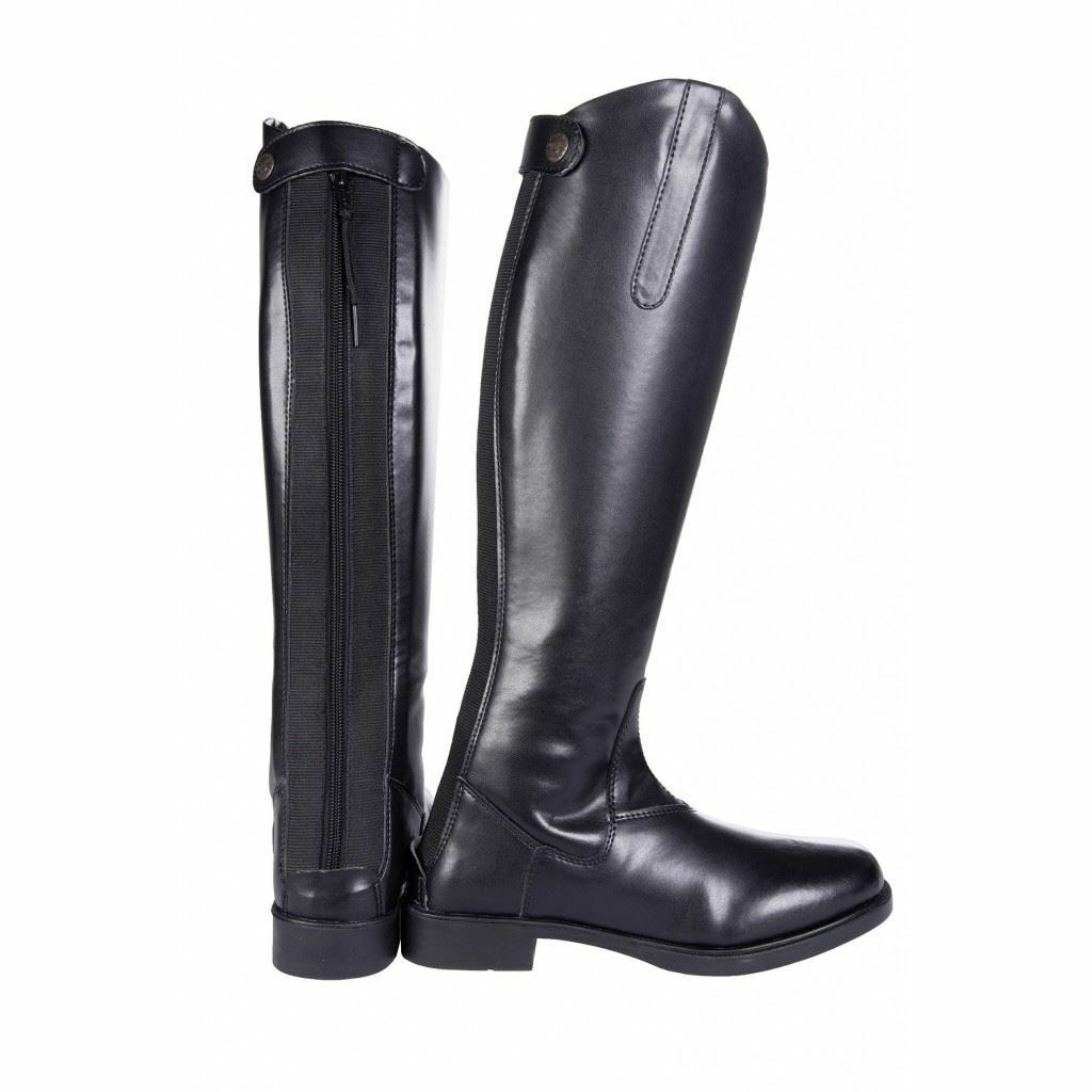 HKM Ladies New General Elasticated Standard Synthetic Leather Horse Riding Boots