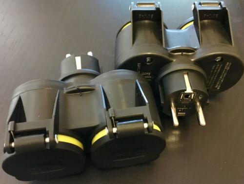 EF 2x GUMMI Doppel 7,47€//St Steckdose Schuko Schukostecker Adapter STECKER YS XX