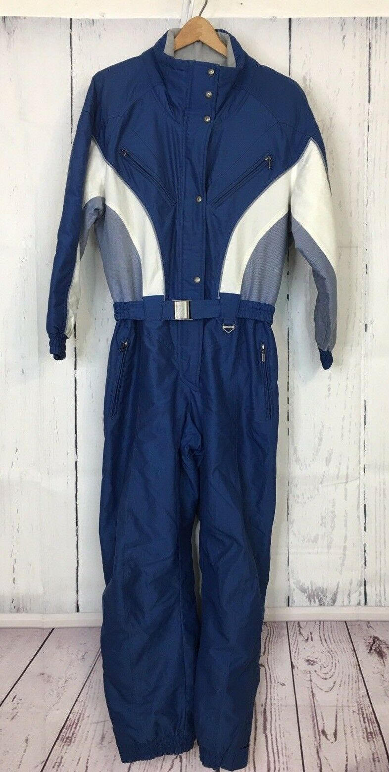 Inside Edge Insulated Snowmobile Jump Suit Grünical Blau Weiß damen medium