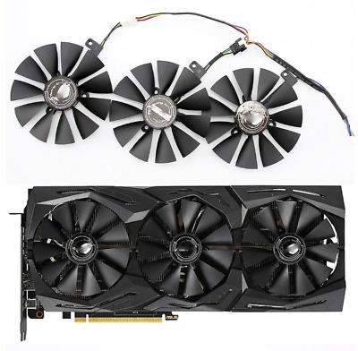 87MM FDC10U12S9-C FDC10H12S9C Graphics Card Cooling Fan for ASUS ROG Strix ROG Strix RTX2060 2060S 2070 Gaming 3pcs