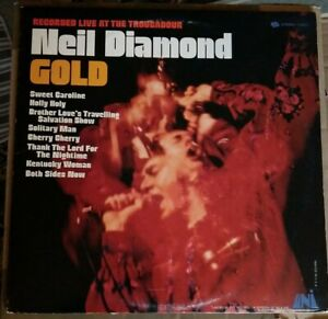 Neil-Diamond-Gold-Vinyl-Lp-Recorded-Live-at-the-Troubadour-Terre-Haute-pressing