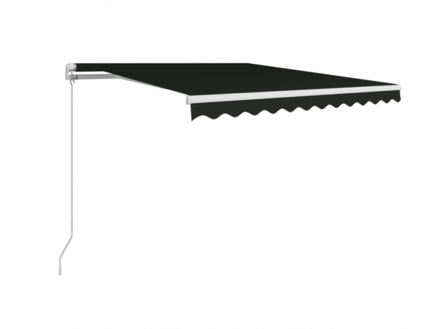 vidaXL Manual Retractable Awning - 300 x 250cm, Anthracite ...