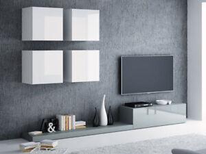 Details zu Wohnwand Cormons II Mediawand Hängwand Anbauwand TV-Wand Hängend  Modern Still