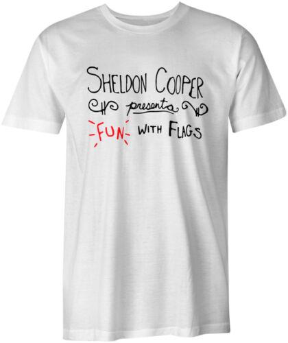 Fun avec drapeaux du big bang theory sheldon cooper geek drôle blague style t-shirt