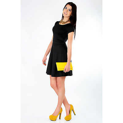 Lovely Women's Dress with Zipper Cocktail Jersey Party Summer Size 8-16 8902