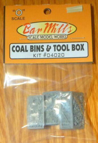 Bar Mills #4020 O Scale Coal Bins /& Tool Chest Unpainted