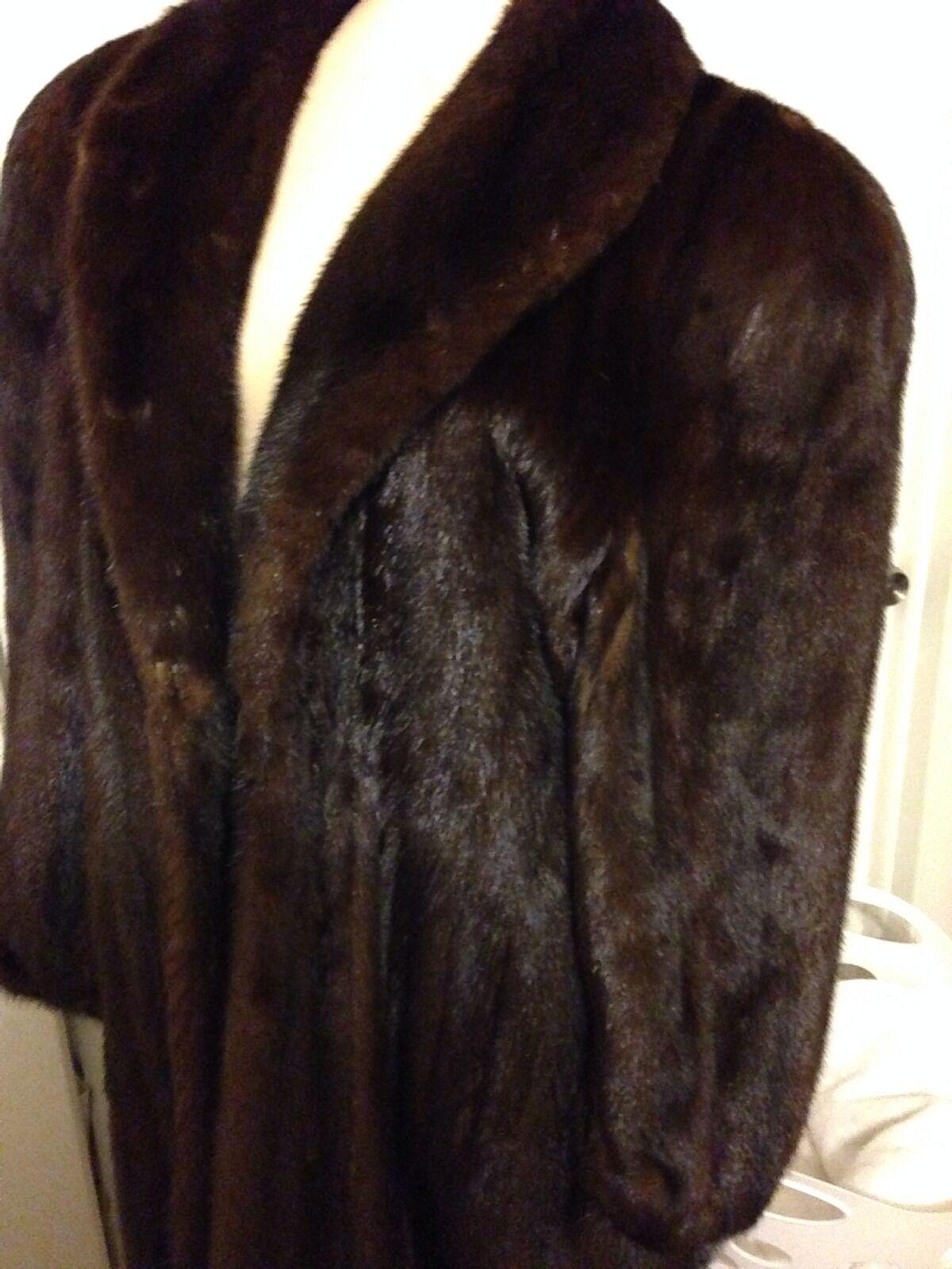 Mink Coat Ladies Brown Full Length  Sizem