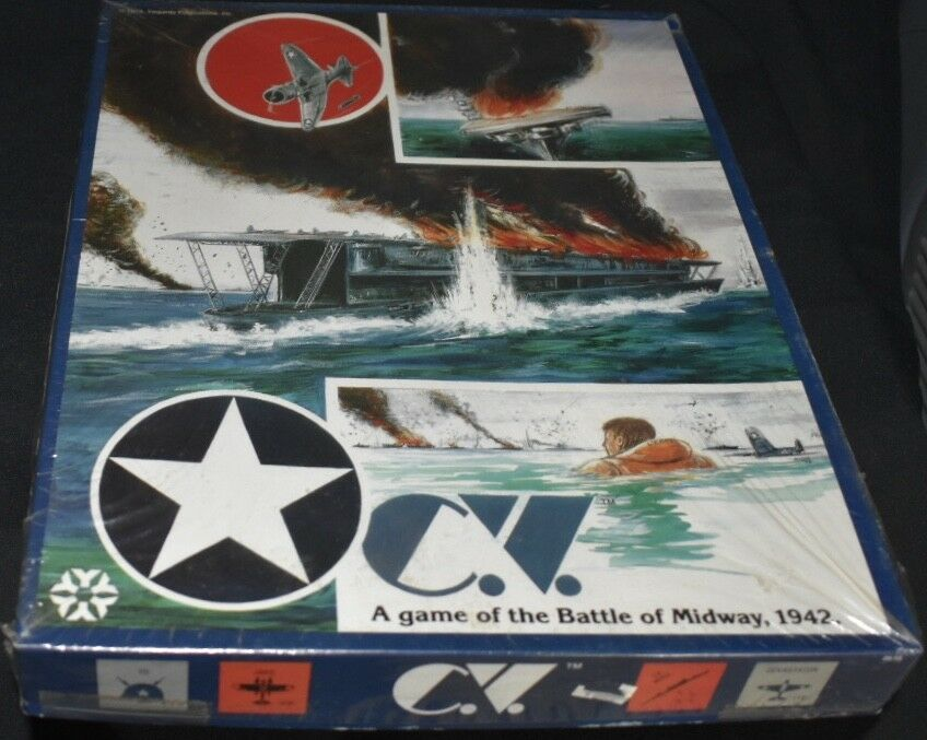 C.V. A Game of Carrier Battles In The Pacific 1942  Battle of Midway Board Game