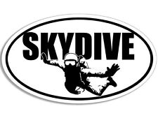3x5 inch Oval SKYDIVE w/ Parachute Sticker - decal sky dive fun skydiving jump