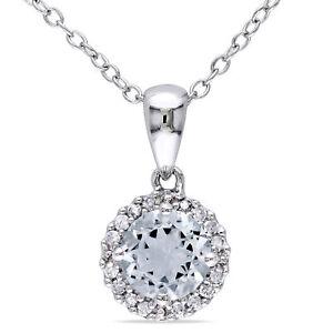 Amour-Silver-Aquamarine-and-1-10ct-TDW-Diamond-Necklace-H-I-I2-I3