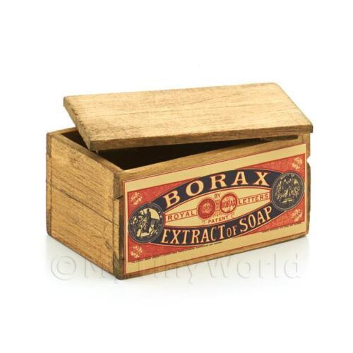 Dolls House Borace estratto di sapone con marchio cassa con coperchio