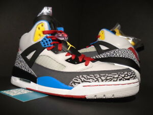 huge discount 2ed4a 65714 Image is loading 2012-NIKE-AIR-JORDAN-SPIZIKE-BORDEAUX-CEMENT-GREY-