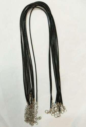 50pz  collana filo cotone cerato per bigiotteria