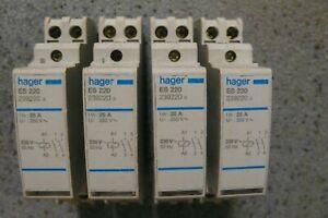 HAGER ES220 Contacteur 25A 230V 2F, 2contacts à fermetures 25 ampères