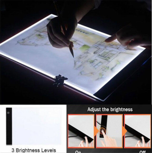 Painting Supplies A4 Drawing Tablet Copy Table Led Luminous Graphic Tablet Painting Board Acrylic Panel Bright And Translucent In Appearance