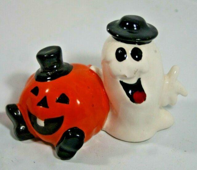 Cute Little Halloween Ceramic Figurine Of Funny Ghost