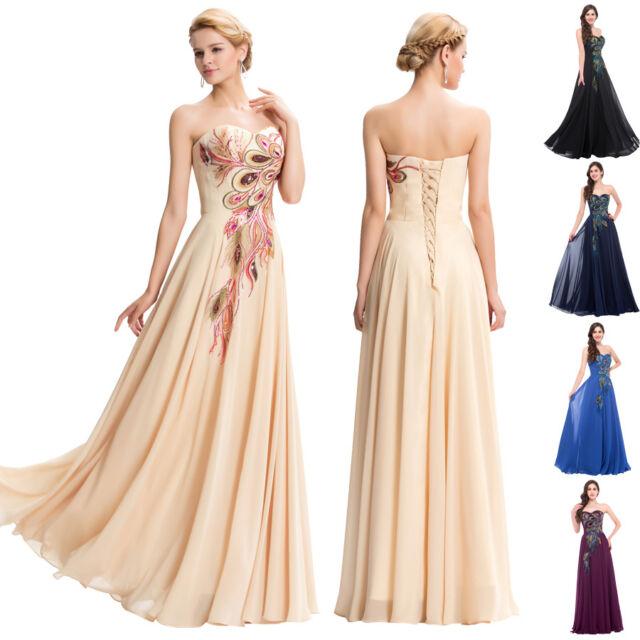 NEW Chiffon Long Bridesmaids Evening Prom Party Dress Masquerade Wedding Dresses