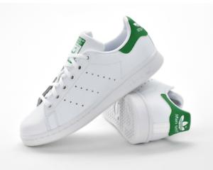 Détails sur Adidas Stan Smith BASKET ENFANTS SPORT JUNIOR Taille 38 blancvert