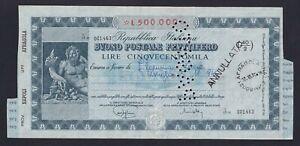Italy / Italy - 500.000 Lire Good Postal Interest-Bearing 1970 Napoli A-08