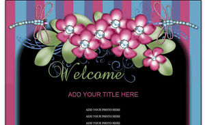 DREAMY-FLOWERS-eBay-Listing-auction-template-dragonfly-glitter-Flowers-PINK-BLUE