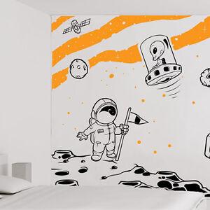 Detalles De Espacio Mural Para Pared Completo Niños Alien Guardería Adhesivo Frases