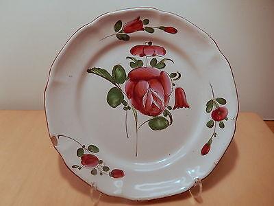 Assiette faience Est XVIII Strasbourg décor floral 18 siecle céramique française
