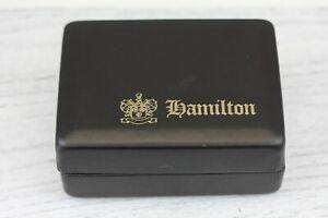 35878ac95b780 Details about VINTAGE HAMILTON WRIST WATCH PRESENTATION BOX DISPLAY RETRO  BLACK GOLD TRIM