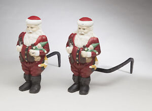 The Holiday Aisle Santa Claus Andirons Figurine Set of 2